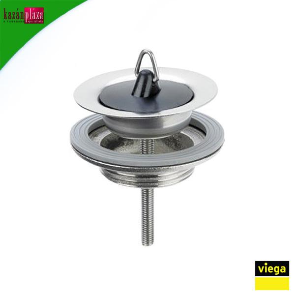 Leeresztőszelep mosdóhoz 5/4 - 60 mm acél + dugó VIEGA