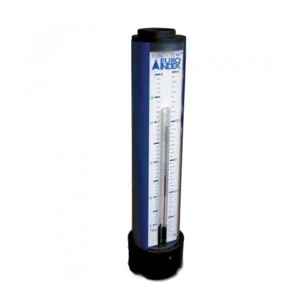 FLOWTEMP térfogatáram és hőmérsékletmérő, -10 - +110 fok Celsius, 1,5..4/4..8/8..17,5 l/min