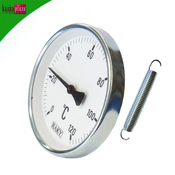 Hőmérő 63 mm - 120°C-ig rugós