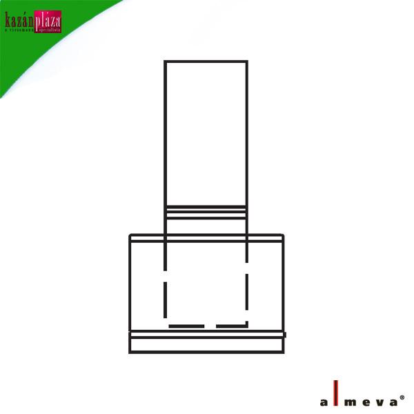 ALMEVA kéményfej LAB  60/100 mm PPh/INOX
