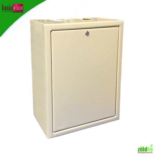 Gázmérő szekrény lemezből fali kivitel szinterezett, tetején kivágásal